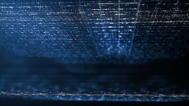 Fundo abstrato de tecnologia digital Foto Premium