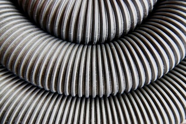 Fundo abstrato de tubo corrugado Foto Premium