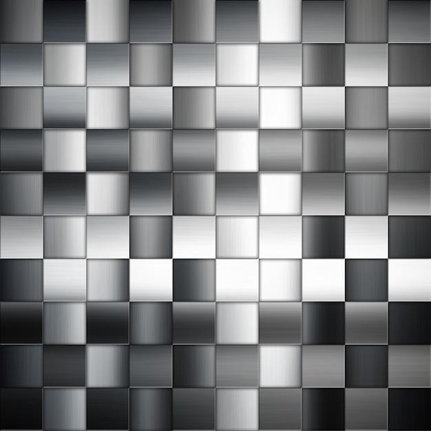 Fundo abstrato do metal com quadrados padrão Foto gratuita
