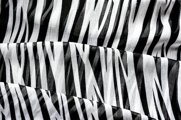 Fundo abstrato em listras preto e branco Foto Premium