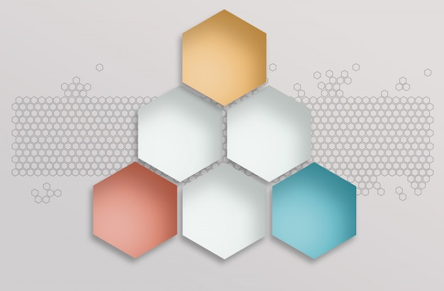Fundo abstrato espaço poligonal Foto Premium