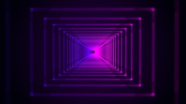 Fundo abstrato futurista de alta tecnologia com espectro de luz de néon azul e roxo Foto Premium