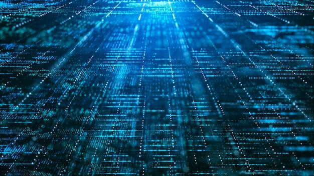 Fundo abstrato matriz digital. conceito de tecnologia de informação de grande volume de dados futurista. Foto Premium