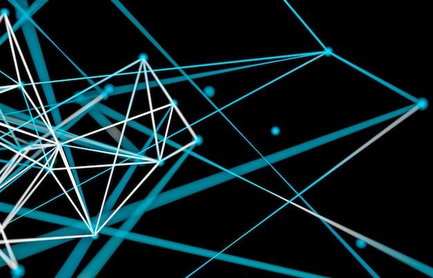 Fundo abstrato tecnologia digital. estrutura de conexão de rede. Foto Premium