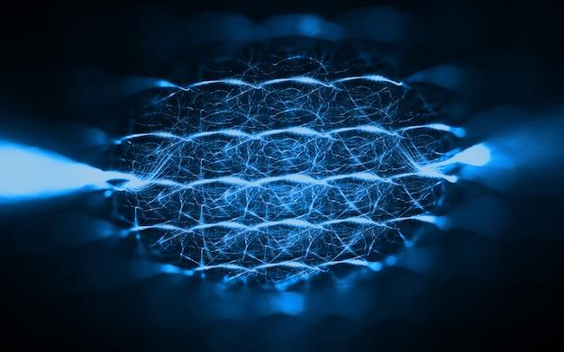 Fundo abstrato tecnologia fractal Foto gratuita