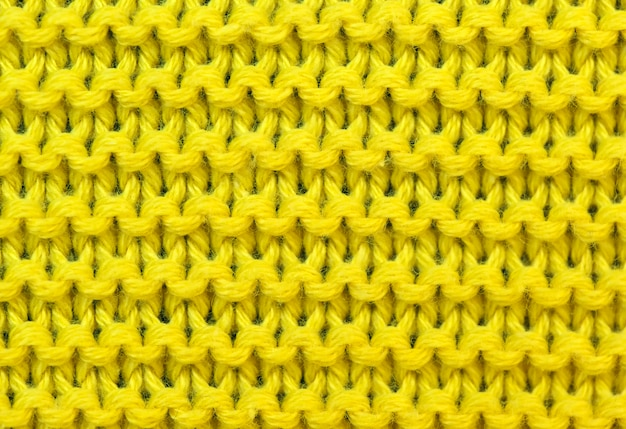 Fundo amarelo de malha Foto Premium