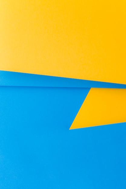 Fundo amarelo e azul duplo para escrever o texto Foto gratuita