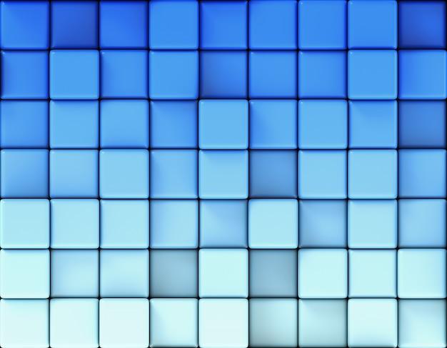 Fundo azul abstrato feito de cubos Foto Premium
