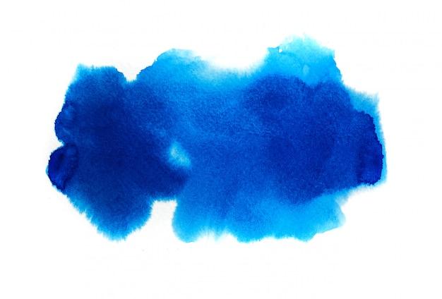 Fundo azul aquarela Foto Premium