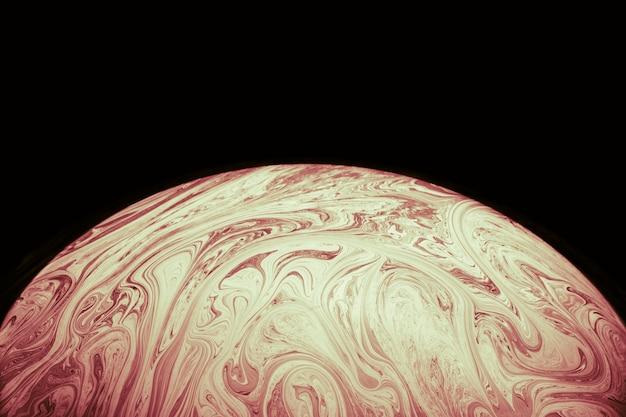 Fundo colorido abstrato com esfera marrom macia Foto gratuita