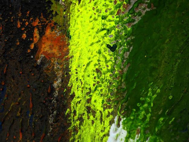 Fundo colorido do sumário da pintura a óleo da textura da tração da mão. Foto Premium