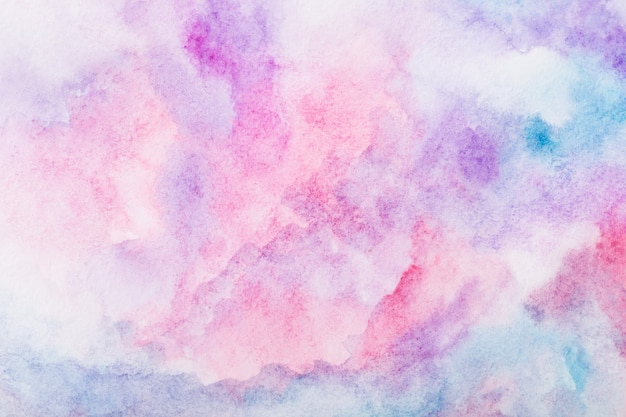 Fundo colorido em aquarela. pintados à mão com pincel Foto Premium