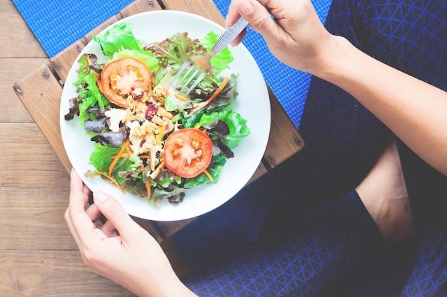 Fundo comida tigela exercício refeição espaço Foto gratuita
