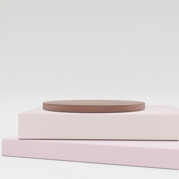 Fundo cosmético para apresentação do produto. madeira e livro para ilustração de revista de moda. Foto Premium
