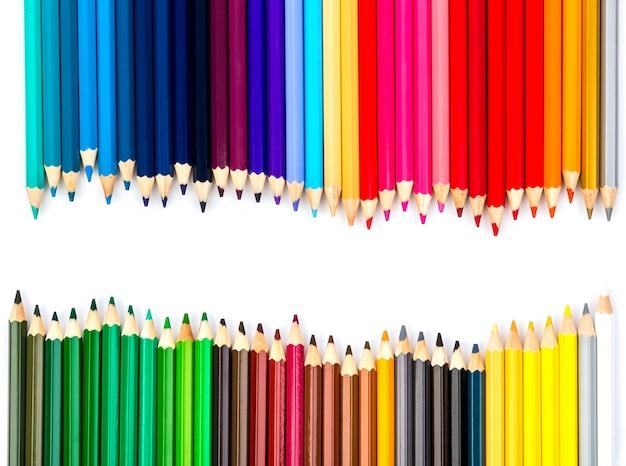 Fundo creativo com lápis de cor Foto gratuita