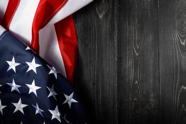 Fundo da bandeira americana para o memorial day ou 4 de julho Foto Premium