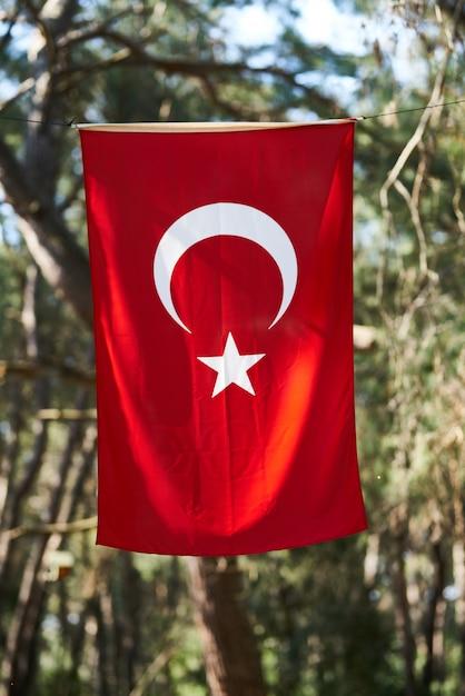 Fundo da bandeira da turquia Foto Premium
