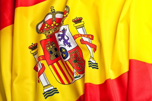 Fundo da bandeira de espanha Foto Premium