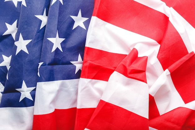 Fundo da bandeira dos eua. bandeira nacional americana Foto Premium