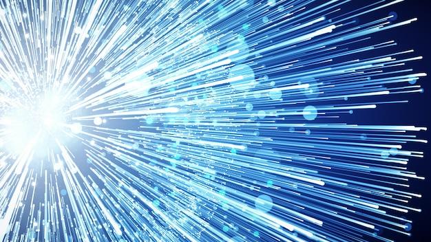 Fundo da ilustração 3d para anunciar e papel de parede na cena da rede digital e do fi do sci. Foto Premium