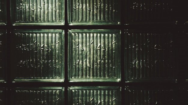 Fundo da parede de tijolo de vidro Foto Premium