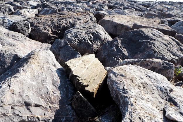 Fundo da praia da rocha Foto Premium