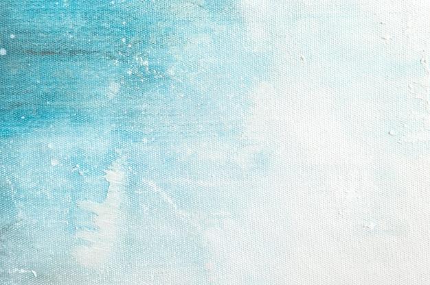 Fundo da textura da lona com pintura colorida azul abstrata da arte. Foto Premium