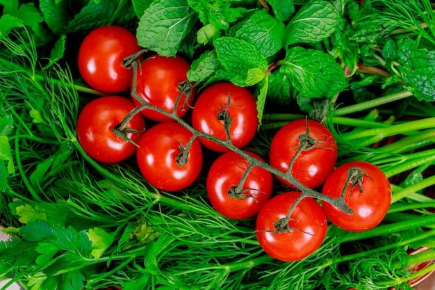 Fundo de alimentos orgânicos farmers vegetable market Foto Premium