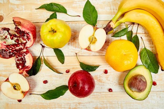 Fundo de alimentos orgânicos. Foto Premium