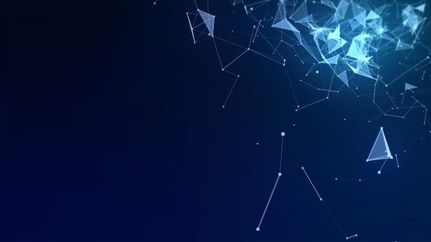 Fundo de alta tecnologia abstrato baixo polígono Foto Premium