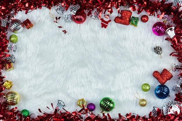 Fundo de ano novo e moldura Foto Premium