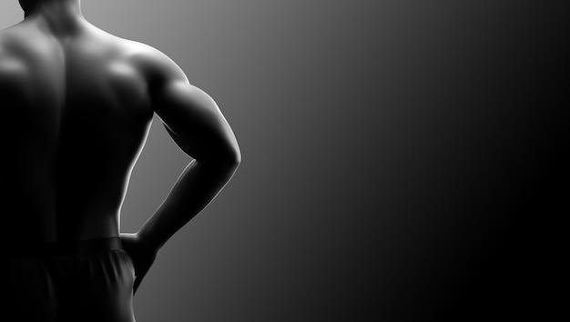 Fundo de aptidão do homem músculo Foto Premium
