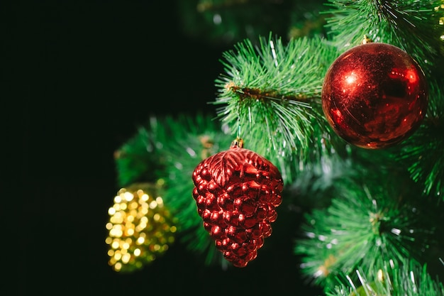 Fundo de árvore de natal Foto Premium