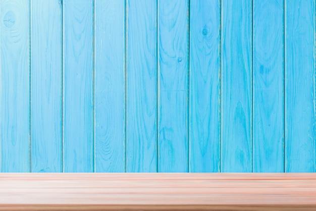 Fundo de assoalho de madeira folha bonita vintage alinhamento textura azul com padrão natural Foto Premium