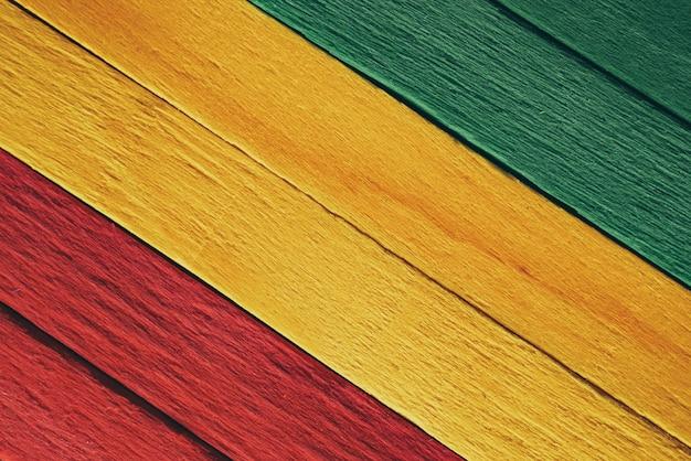 Fundo de bandeira de reggae rasta de madeira Foto Premium