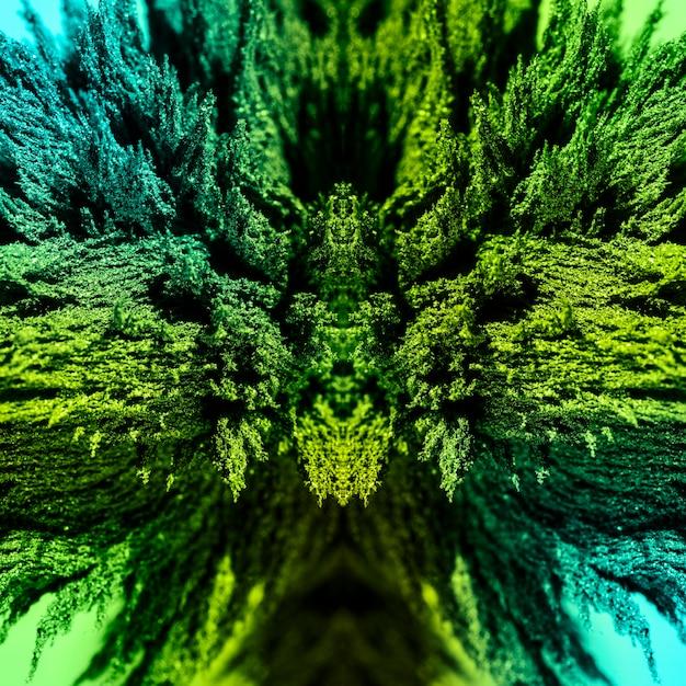 Fundo de barbear metálico magnético abstrato verde caleidoscópico Foto gratuita