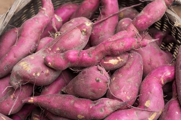 Fundo de batata doce Foto Premium
