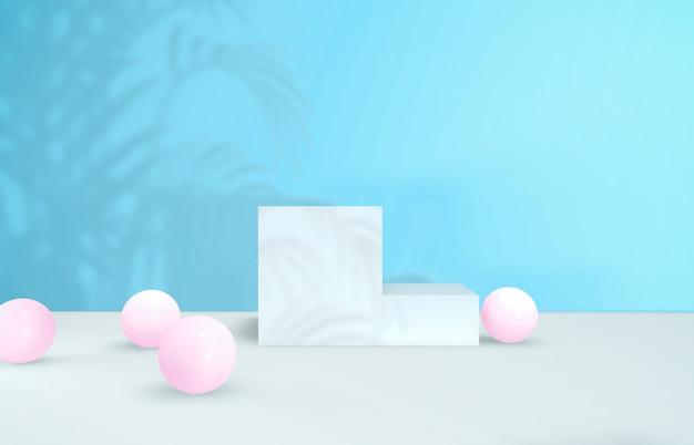 Fundo de beleza natural para a exposição de produtos cosméticos. Foto Premium