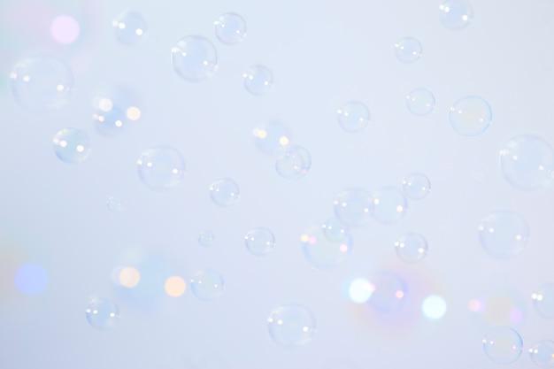 Fundo de bolhas de sabão Foto Premium