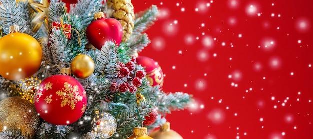 Fundo de cartão de feliz natal feriados. foco seletivo. natureza. Foto Premium