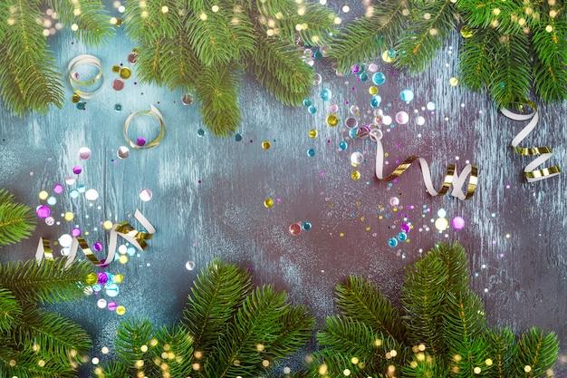 Fundo de celebração de natal Foto Premium