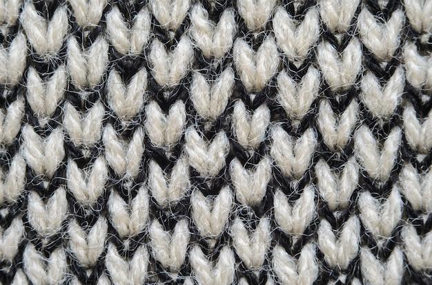 Fundo de closeup de textura de tecido de malha Foto Premium