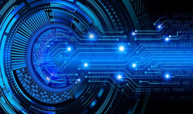 Fundo de conceito de tecnologia futura de circuito de olho azul Foto Premium