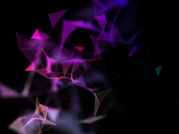 Fundo de conexões de rede 3d com design de plexo Foto gratuita