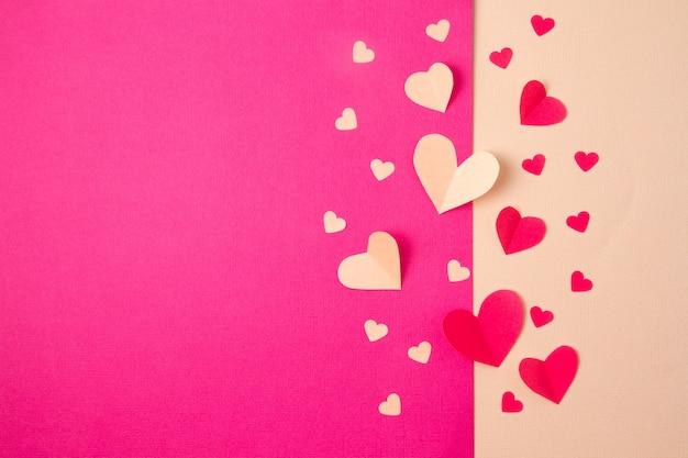 Fundo de corações de papel Foto Premium