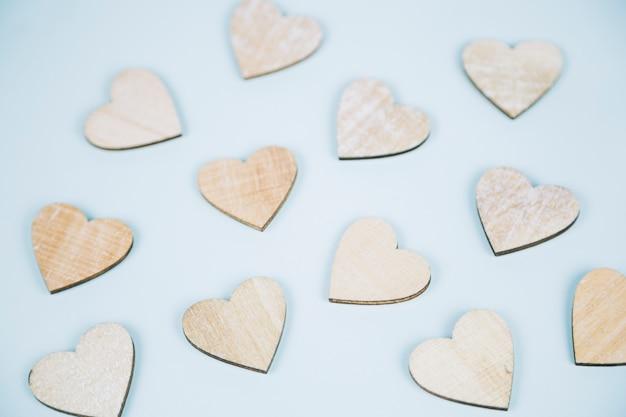 Fundo de corações Foto gratuita