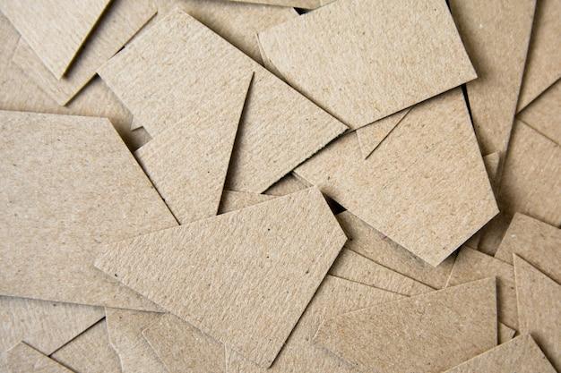 Fundo de corte de papel marrom. fundo de material Foto Premium