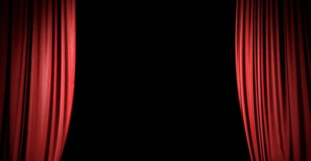 Fundo de cortina de palco vermelho com espaço de cópia Foto Premium