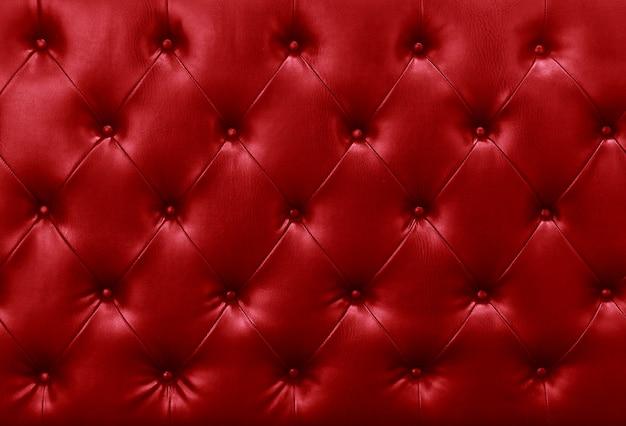 Fundo de couro sofá vermelho Foto Premium
