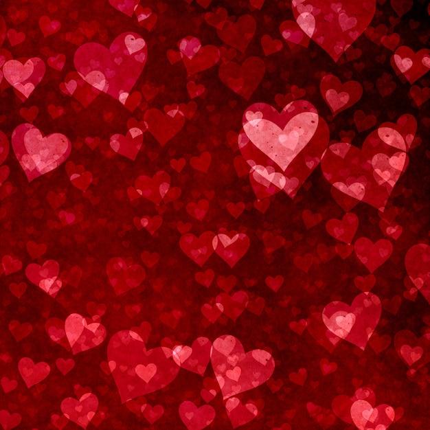 Fundo de dia dos namorados com design de corações Foto gratuita